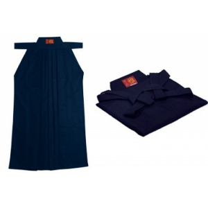 Хакама синяя айкидо MIYABI H-2-N AIKI